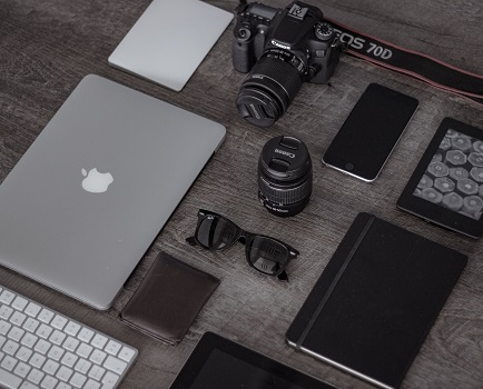 A digital nomad's accessories